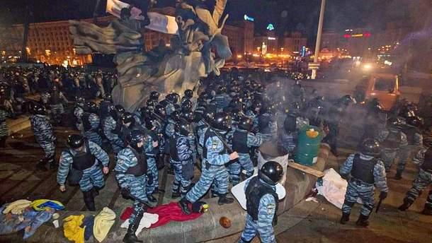 Силовий розгін акції 30.11.13 року в Києві