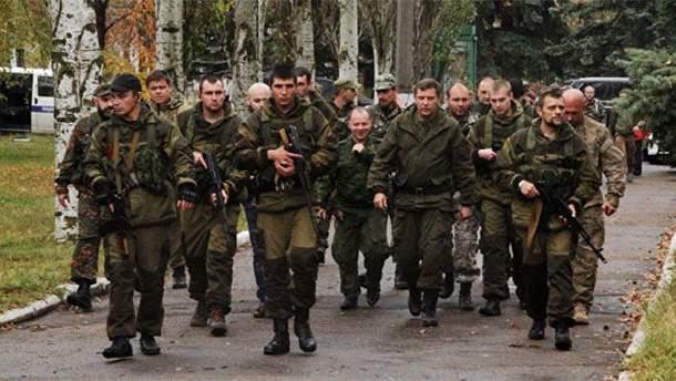 """Бойовики """"ДНР"""" із вбитим ватажком Захарченком"""