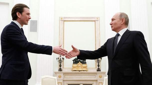 Путін не захотів обговорювати з Курцом  ситуацію на  Донбасі