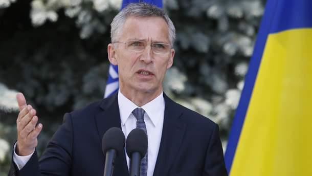 Столтенберг заявил, что НАТО помогает Украине создать центр по защите киберпространства