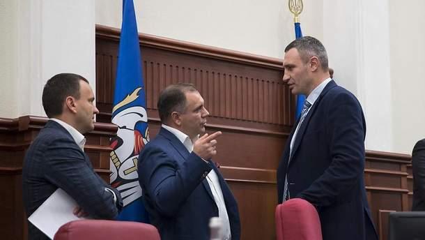 Открытие заседания Киевского городского совета