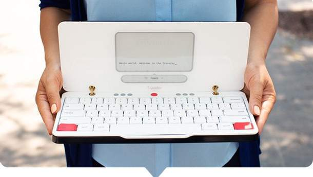Створили незвичний ноутбук, що працює за принципом друкарської машини