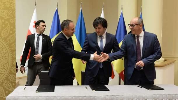 У Тбілісі підписали статут Міжпарламентської асамблеї України, Грузії і Молдови