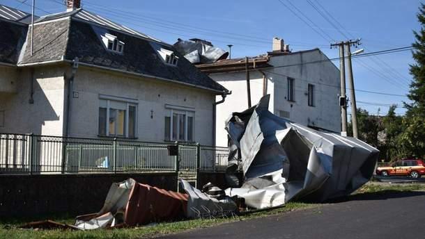 Буря на Закарпатье и в Словакии