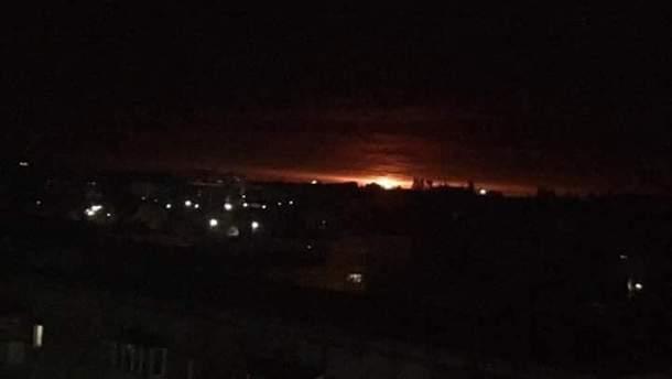 Взрывы в Ичне на складах боеприпасов