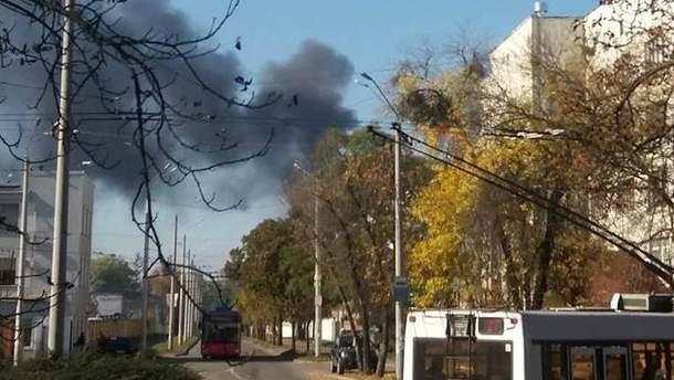В Киеве на местном заводе произошел пожар