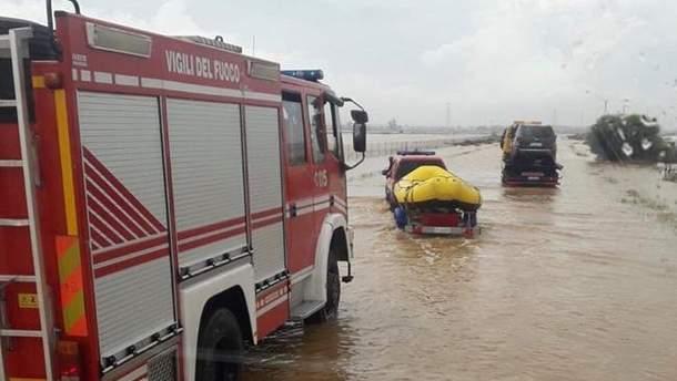 Наводнения в Франции и Италии