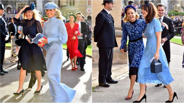 Челсі Деві і Крессида Бонас на весіллі принцеси Євгенії