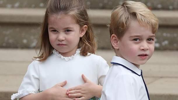 Виноват ветер: няня принца Джорджа ипринцессы Шарлотты оконфузилась насвадьбе