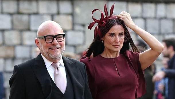 Деми Мур на королевской свадьбе принцессы Евгении