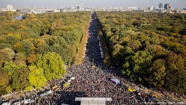 В Берлине прошел массовый митинг против расизма