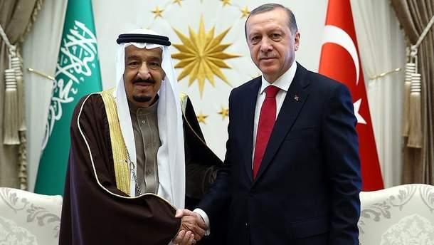 Реджеп Эрдоган и Салман ибн Абдул-Азиз
