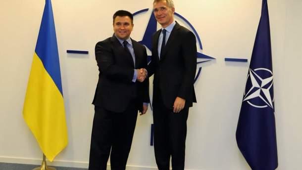 Клімкін зустрівся з Генеральним секретарем НАТО Йенсом Столтенбергом
