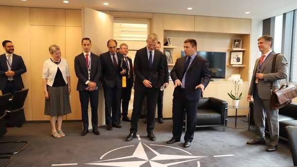 Климкин встретился с Генеральным секретарем НАТО Столтенбергом