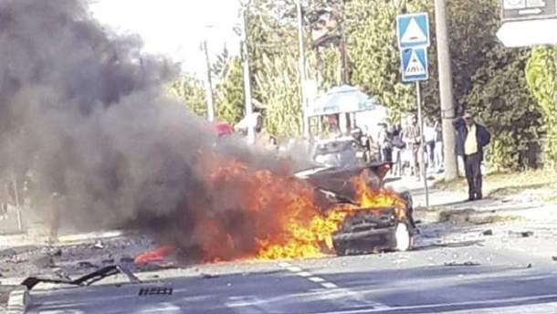 В Белграде взорвали автомобиль отца популярной сербской телеведущей Марижаны Мичич
