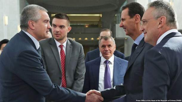 Російський очільник Криму Аксьонов зустрівся із президентом Сирії Асадом: про що домовлялися (фото)