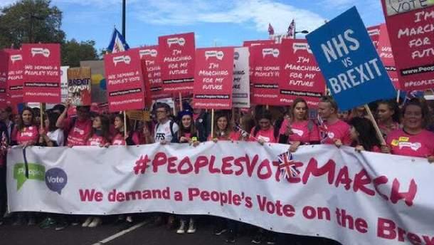 Протести проти Brexit у Лондон