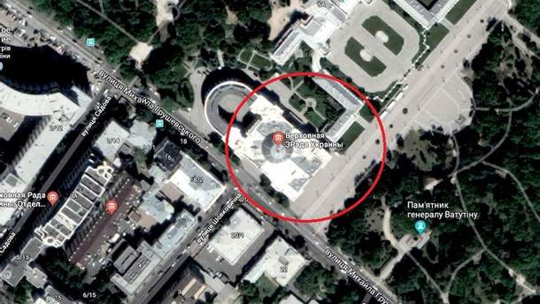 """В Google Maps переименовали Верховную Раду в """"Верховную Зраду"""""""