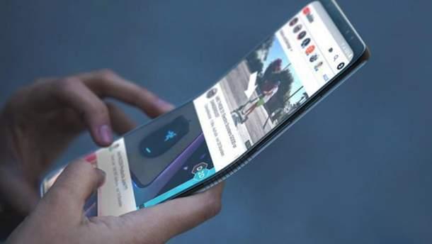 Прототип гнучкого смартфона Samsung Galaxy X