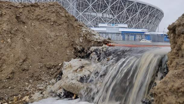 У Росії побудований до ЧС-2018 стадіон розмило дощем