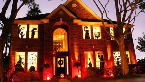 Оформление домов на Хэллоуин
