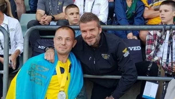 Дэвид Бехкэм с Василием Омельченко