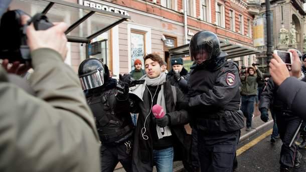 Протесты и задержания в России