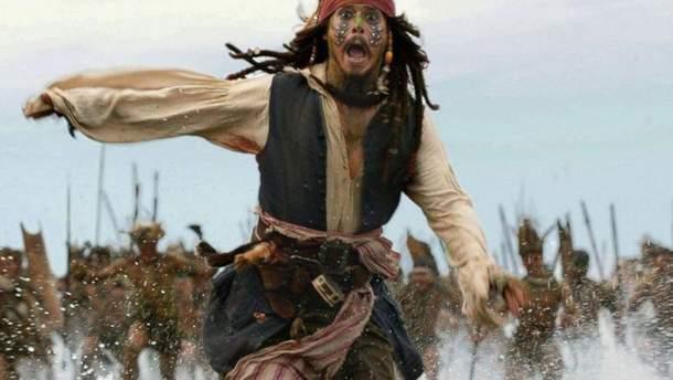 """Капітан Джек Горобець в """"Піратах Карибського моря"""""""