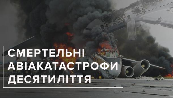 Найбільші авіакатастрофи 2008-2018
