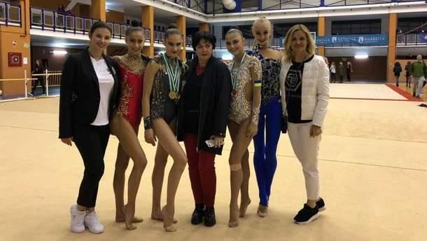 Українські гімнастки здобули п'ять медалей на гран-прі в Марбельї