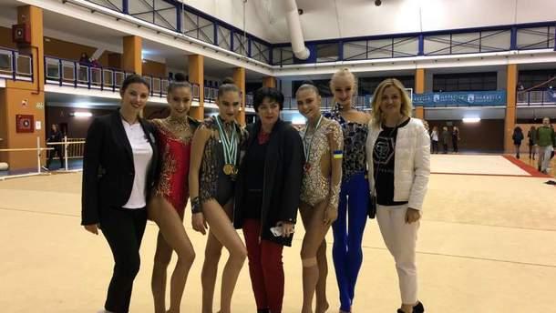 Украинские гимнастки завоевали пять медалей на гран-при в Марбелье