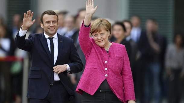 Макрон відреагував на рішення  Меркель більше не балотуватися на  пост голови уряду