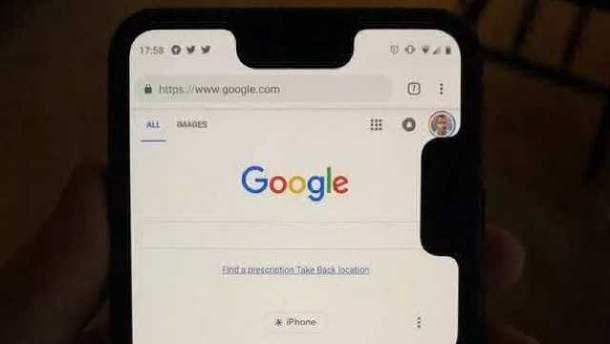 """на Google Pixel 3 XL раптово з'явилась ще одна """"моноброва"""""""
