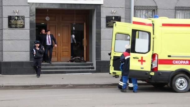 Взрыв в здании ФСБ в Архангельске