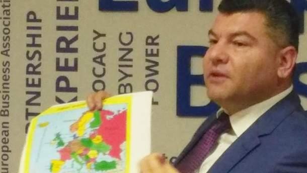 """Голова """"Укртрансбезпеки"""" Ноняк показав карту з """"російським"""" Кримом"""