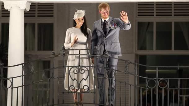 Принц Гарри и Меган Маркл на Фиджи