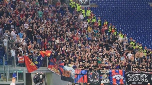 Фанаты российского ЦСКА в Риме