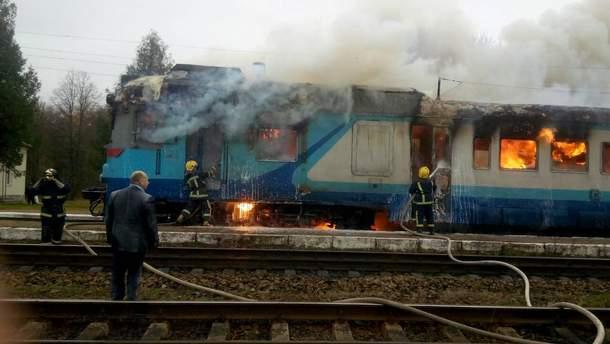 Пожар в пассажирском поезде на Ровненщине