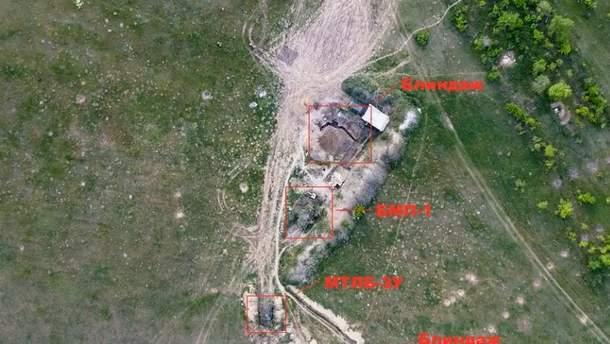 Українські військові знищили техніку бойовиків