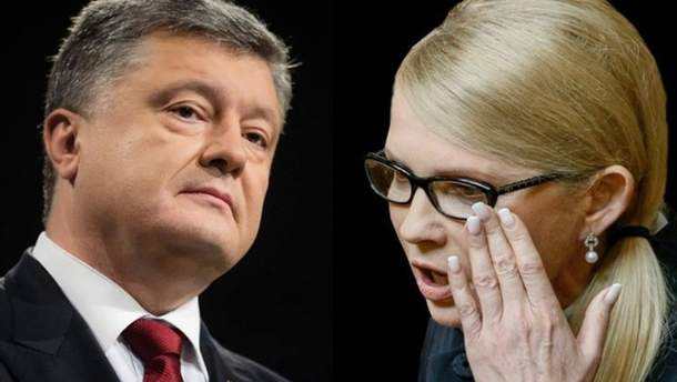 Тимошенко та Порошенко дуже схожі між собою