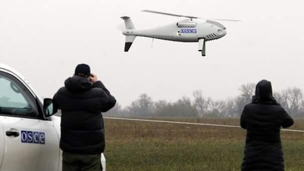 Над оккупированной Луганщиной обстрелян беспилотник СММ ОБСЕ