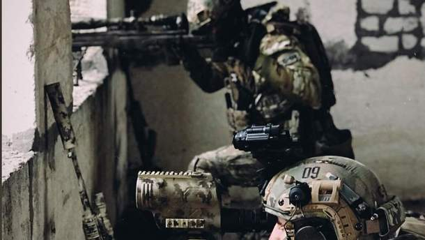 Украинские снайперы за работой