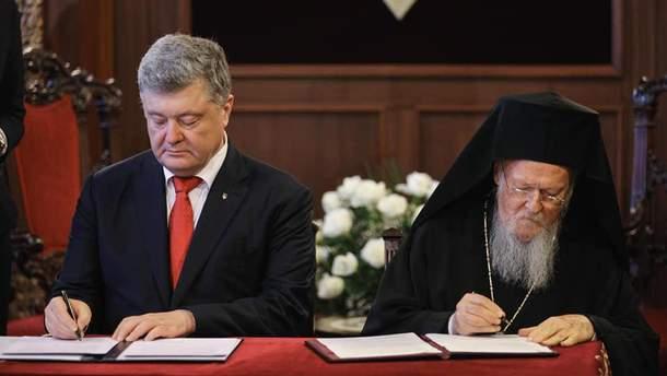 Порошенко з Варфоломієм підписали угоду про співпрацю