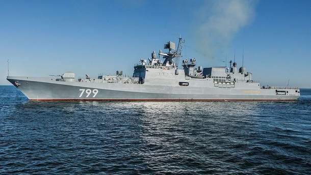 Росія відправила фрегат з ракетами з окупованого Криму до Середземномор'я