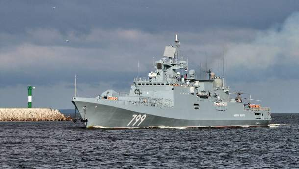 Россия отправила фрегат с ракетами из оккупированного Крыма в Средиземноморье