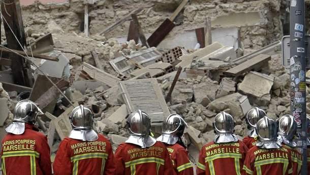 После обрушения 2-х  домов вМарселе пропали без вести девять человек