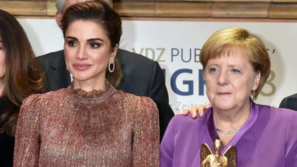 Королева Ранія та Ангела Меркель