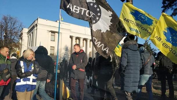 """Протесты владельцев """"евроблях"""""""