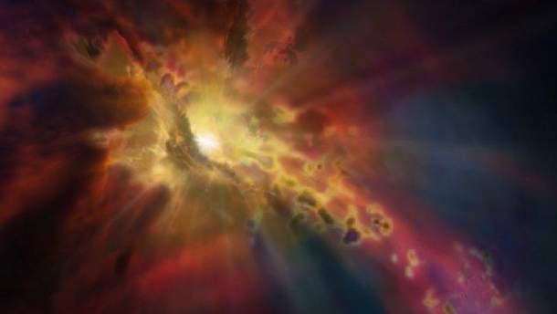 У космосі помітили галактику-фонтан