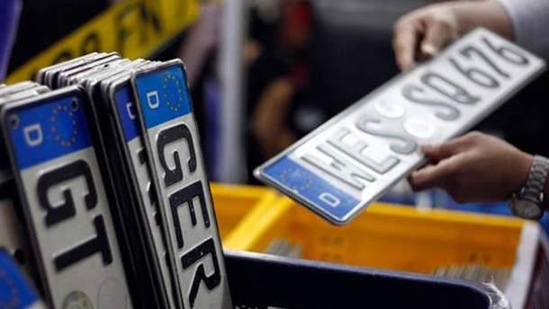 Почему не отменили налог на ввоз в Украину авто на еврономерах